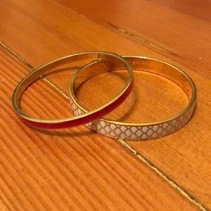 Two Kate spade bangle bracelets